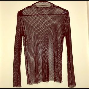 Long sleeved fishnet top